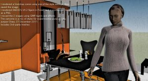 Sketchup x Poser x GIMP by ibr-remote