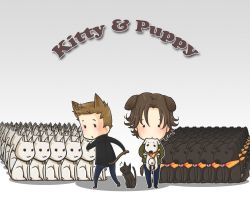 Kitty and Puppy by howabout