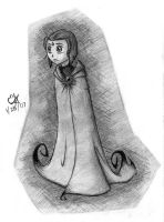 Raven and her Gothic Robe by auriceli