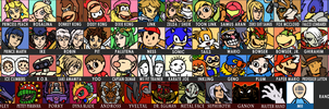 My Super Smash Bros 5 Entire Roster by The-Quill-Warrior