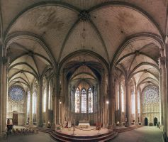 Basilica of St. Nazaire and St. Celse, Carcassonne by Ziw