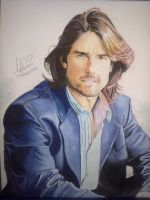 My Painting Of Tom Cruise ! by CeNa-Fan