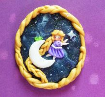 Rapunzel on the Moon Cameo by Petite-Treats