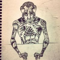 Inked Old Man by ArthurSoffner