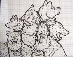 Wolf pile by SimplePlan007