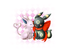 X-mas: Espeon x Umbreon Dolls by A-R-T-3-M-I-S