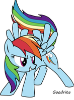 Everything needs a little Rainbow Dash! by Goodrita