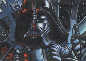 DARTH VADER 2 SKETCH CARD by AHochrein2010