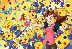 Mega Man Legends | Tron Bonne and Servbots by OroNoDa