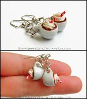 Hot Chocolate Earrings by Bon-AppetEats