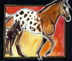 spotted dreams ACEO number 6 by jupiterjenny