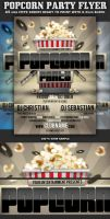 Popcorn Party Flyer Template by Hotpindesigns