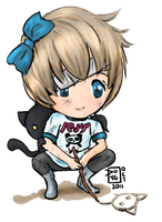 Tomboy drawing by Delight046