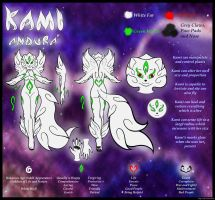 Kami Andura Reference Sheet (AND Visual Update) by Alef-GP