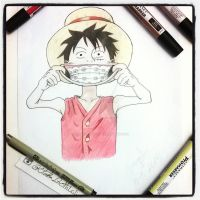 This is behind Luffy's beautiful smile :D by GhostOfDavinci