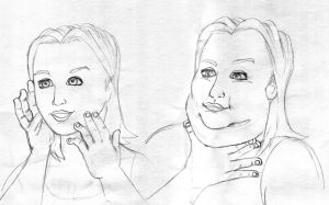 Sketch: Her secret chin by koudelka2005