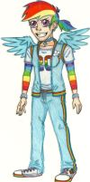 MLP Humans - Rainbow Dash by Jackie-Chaos-Bunny