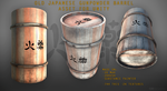 Lowpoly Old Japanese Gunpowder Barrel Unity Asset by XenuxZero