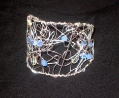 wire wrapped cuff silver by faranway