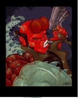 Hellboy's Pissed by lordmesa