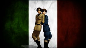 [MMD] Italy Brothers by pastafangirl