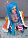 Buggy gender bender, One Piece cosplay by Mellorineeee