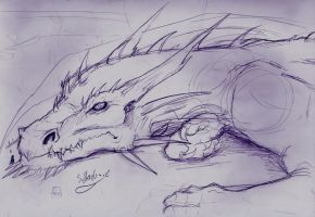 Obedient and unwilling -sketch- by aussie-dragon
