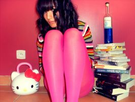 Girl and Pink Tights by Patfoodya