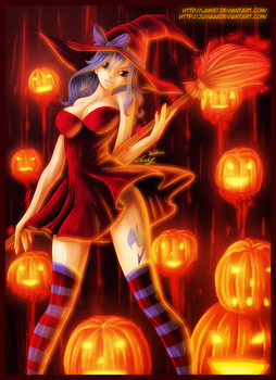Juvia Halloween Witch by Law67