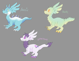 Creature Adoptables yay 1/3 OPEN by Parroti