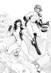 She-Hulk and Power-Girl 1 (2012) Inks by SteveAndrew