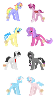 Pride Adopts: OPEN Lowered Price! by ImBorednStuff