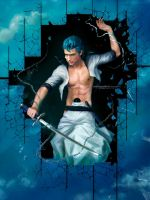 GRIMMJOW  _ Garganta... broken skies_ BLEACH by Zetsuai89