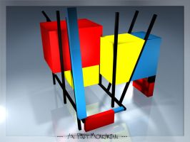 An Piet Mondrian in 3D by mb-neo
