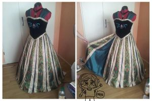 Anna Cosplay WIP (Coronation dress) - Frozen by MAJCosplay