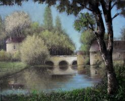Landscape oil painting 3 by Boias