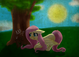 Oh come out of this Shadow, Squirrel... Fluttershy by AviAlexis25