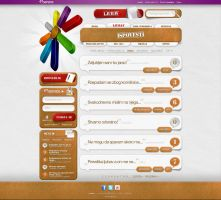 Colorful site for a client by djnick2k