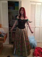Anna's Coronation Dress Test! by RougeLeaderRed