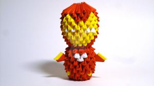 Origami 3D Iron Man by IDEAndo-art