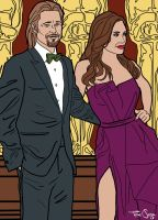 Brangelina color by sapienstoonz
