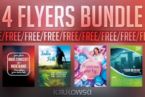 Free Flyer Templates Bundle by mkrukowski