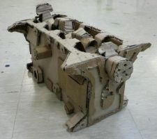 Engine made out of cardboard paper by toyonda