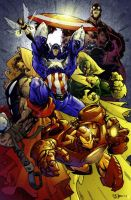 Avengers Coloured by johjames