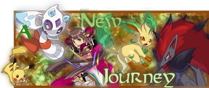 A New Journey: Pokemon Conquest FanFic Banner by Inoune