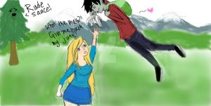 Fionna and Marshall Lee by JustHannahful