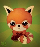 CHIBI - Red Panda by alpin-j