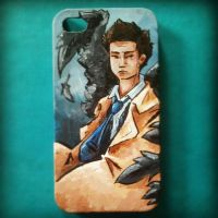 Castiel iPhone Case by jsheaisaninja