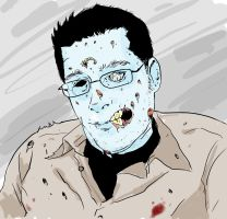 Zombie Nate by NathanKroll