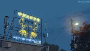 Crab Neon Light by mclelun